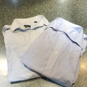 Lot of TWO men's long sleeve dress shirts